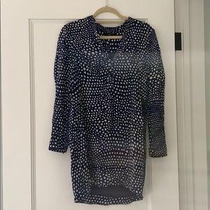 Tibi silk long sleeve dress